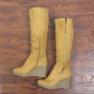 ee6eec1c2119 Nine West Shoes - Nine West Chill Out Knee High Wedge Boots NWOB